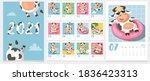 children's calendar for 2021  ... | Shutterstock .eps vector #1836423313