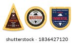 vector cheese labels and... | Shutterstock .eps vector #1836427120
