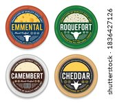 cheese round labels and...   Shutterstock .eps vector #1836427126