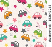 seamless background with cars ... | Shutterstock .eps vector #183643268