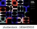 meta modern aesthetics of swiss ... | Shutterstock .eps vector #1836435010