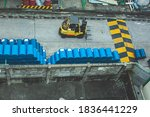 Topview Forklift Chemical Drums ...