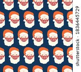 santa claus wearing face mask... | Shutterstock .eps vector #1836445729