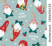 christmas seamless pattern with ... | Shutterstock .eps vector #1836456133