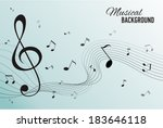 paper background with music... | Shutterstock .eps vector #183646118