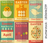 easter posters collection in... | Shutterstock .eps vector #183646259