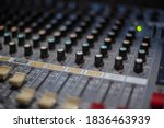 Mixing Board Sound Knobs. Pro...