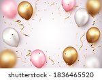 celebration banner with gold... | Shutterstock .eps vector #1836465520