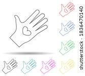 heart in hands multi color...