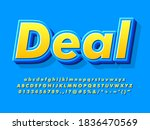 cool 3d yellow and blue cartoon ... | Shutterstock .eps vector #1836470569