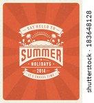 summer vector typography poster ... | Shutterstock .eps vector #183648128