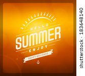 summer vector typography.... | Shutterstock .eps vector #183648140