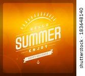 summer vector typography.... | Shutterstock .eps vector #183648140
