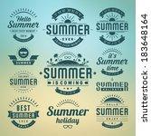 summer holidays design elements ... | Shutterstock .eps vector #183648164