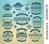 summer holidays design elements ... | Shutterstock .eps vector #183648170