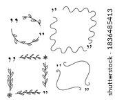 doodle quote frame vector set...   Shutterstock .eps vector #1836485413