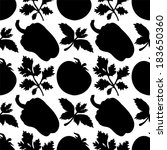 seamless pattern with... | Shutterstock .eps vector #183650360