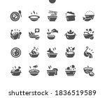 set of soups. meat soup  fish... | Shutterstock .eps vector #1836519589
