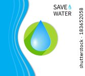 water drop  ecology background  ...   Shutterstock .eps vector #183652058