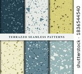 set of terrazzo seamless... | Shutterstock .eps vector #1836544540