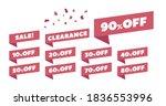 sale label collection set 10 ... | Shutterstock .eps vector #1836553996