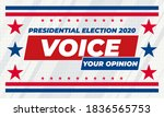 voice your opinion. 2020 united ...   Shutterstock .eps vector #1836565753