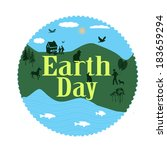 Earth Day Grunge Stamp With On...