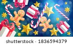 christmas and new year 2021...   Shutterstock .eps vector #1836594379