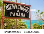 welcome to panama sign on the... | Shutterstock . vector #183660008
