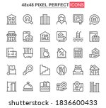 real estate thin line icon set. ...