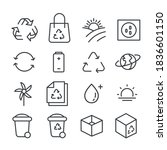 set of garbage icon. recycle... | Shutterstock .eps vector #1836601150