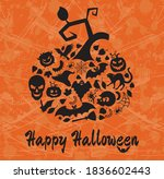 halloween details with the text ... | Shutterstock .eps vector #1836602443
