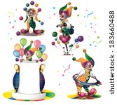 clowns set | Shutterstock .eps vector #183660488