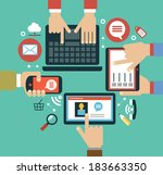 mobile apps concept. | Shutterstock .eps vector #183663350