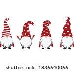 christmas gnome vector... | Shutterstock .eps vector #1836640066