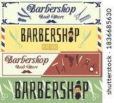 set of barbershop advertising...   Shutterstock .eps vector #1836685630