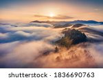 Magic Sunrise In Carpathian...