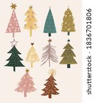 collection of cute boho... | Shutterstock .eps vector #1836701806