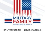 military family appreciation... | Shutterstock .eps vector #1836702886