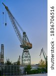 Crane At A Shipyard Against The ...