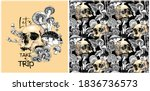collection of print and... | Shutterstock .eps vector #1836736573