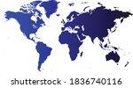 world map vector  isolated on... | Shutterstock .eps vector #1836740116