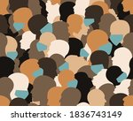 people protecting from corona... | Shutterstock .eps vector #1836743149