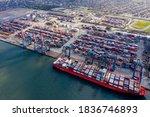 Ship Loading At Santos Port In...