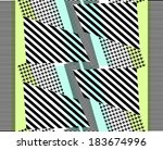 pied de poule patterned and... | Shutterstock .eps vector #183674996