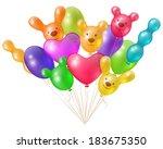 a festive bunch of bright...   Shutterstock .eps vector #183675350