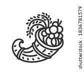 cornucopia. horn with seasonal... | Shutterstock .eps vector #1836781579