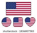 american flag variation set ... | Shutterstock .eps vector #1836807583