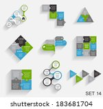 collection of infographic... | Shutterstock .eps vector #183681704