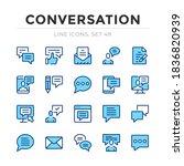 conversation vector line icons... | Shutterstock .eps vector #1836820939